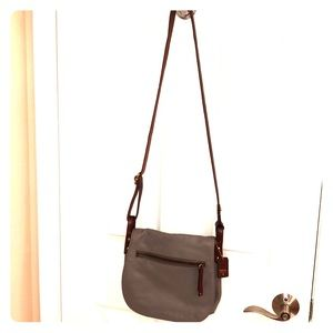 Fossil leather crossbody purse